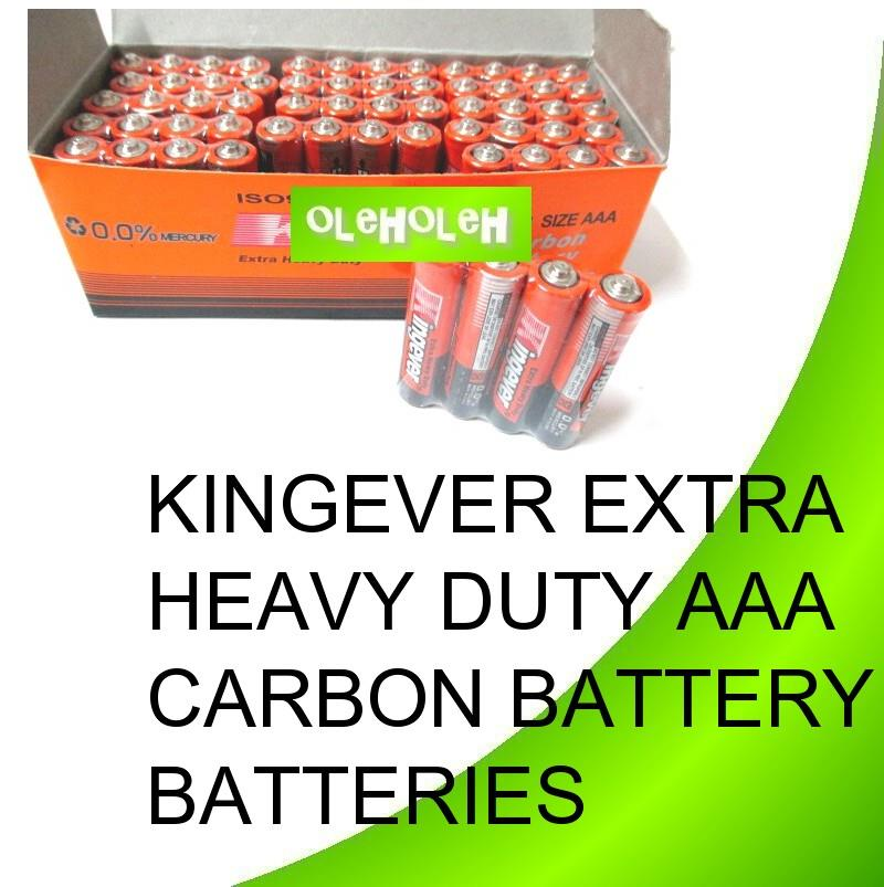 Kingever Extra Heavy Duty AAA Carbon Battery Batteries 1box 60pcs