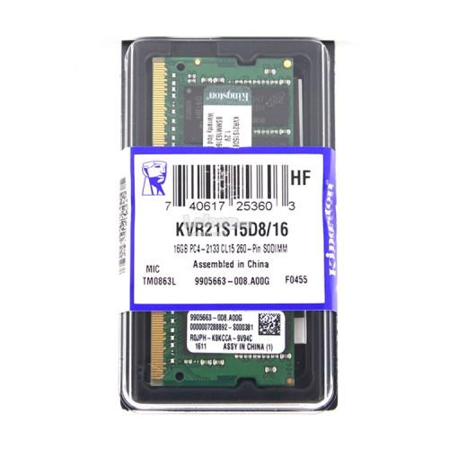 KINGSTON 16GB DDR4 2133MHZ NOTEBOOK SODIMM RAM MEMORY KVR21S15D8/16