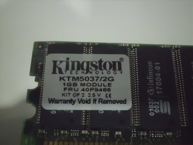 Kingston 2GB (2x 1GB) Memory Ram Specifications Part # KTM5037/2G