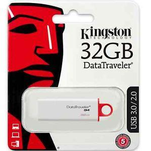 KINGSTON 32GB DATA TRAVELER G4 USB3.0 FLASH DRIVE, DTIG4/32GB, RED