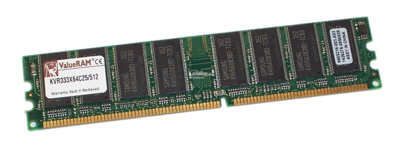 KINGSTON 512MB DDR1 333MHz PC2700 184-PIN DIMM
