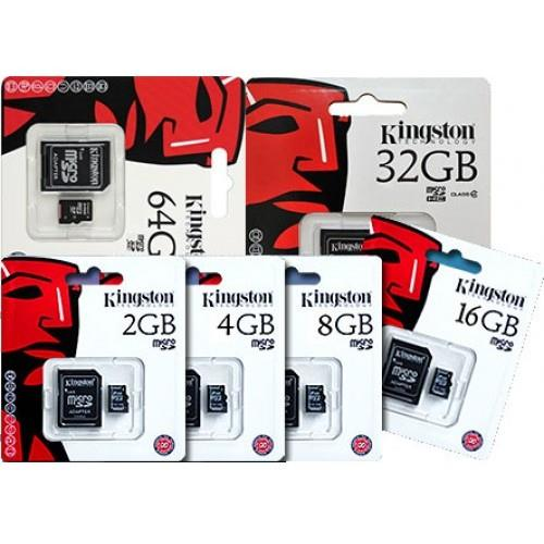 KINGSTON 8/16/32/64GB Class4/Class10 Micro Sd Card