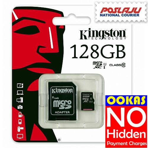 KINGSTON Class 10 Micro SD 8GB/16GB/32GB/64GB/128GB Memory Card CL10