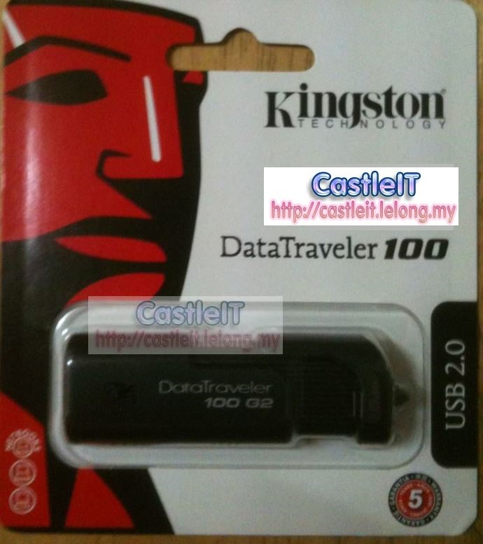 Kingston DataTraveler 100 G2 32GB Flash Drive (DT100G2/32GB)