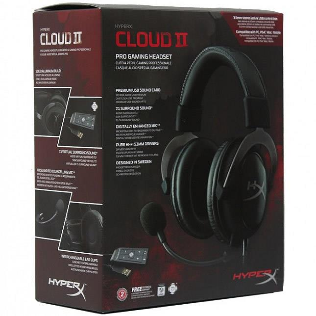 KINGSTON HYPERX CLOUD II HEADSET (KHX-HSCP-GM) GUN METAL