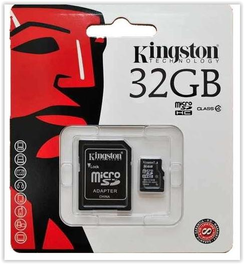 KINGSTON TF MICROSD CL4 32GB WITH ADAPTER MEMORY CARD (SDC4/32GB)