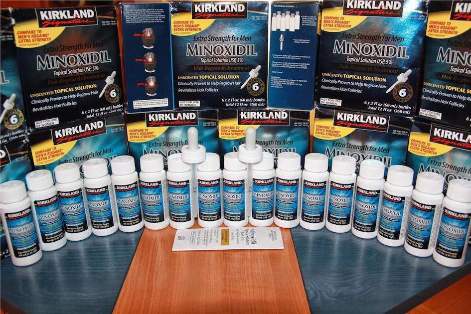 Kirkland 5% Liquid, Min0xidil, 1-12 months, Free Dropper & Spray Head