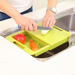 Kitchen 2 In 1 Dripping Slidable Chopping Board