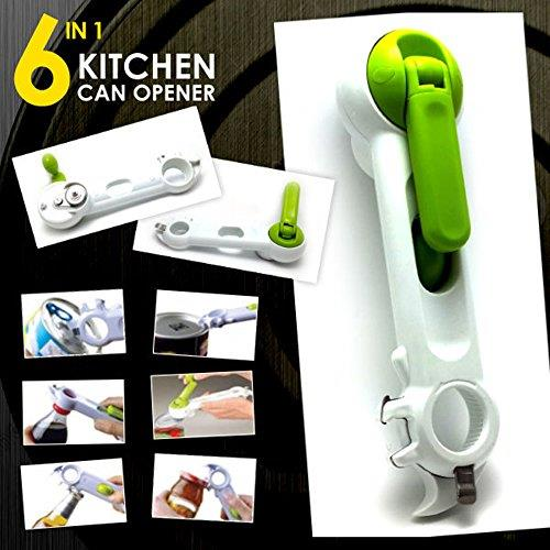 KITCHEN 6 WAY OPENER WHITE & GREEN