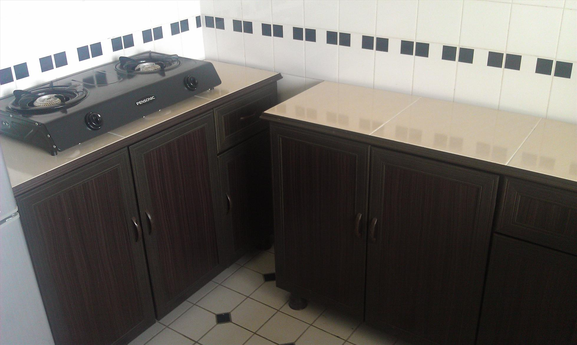 Kitchen cabinet + Kabinet Dapur + Cooker 2 burner for sale