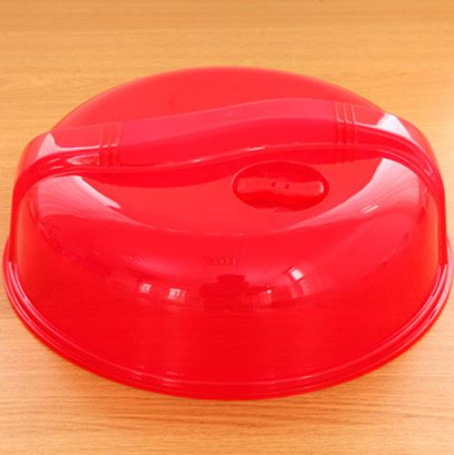 Kitchen Microwave Food Dish Plate Cover Lid (Red)