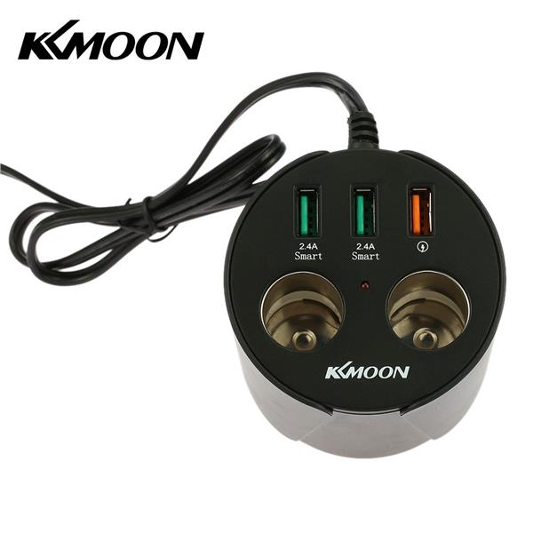 Kkmoon Cup Shape Car Charger Adapter Dual Cigarette Lighter Socket