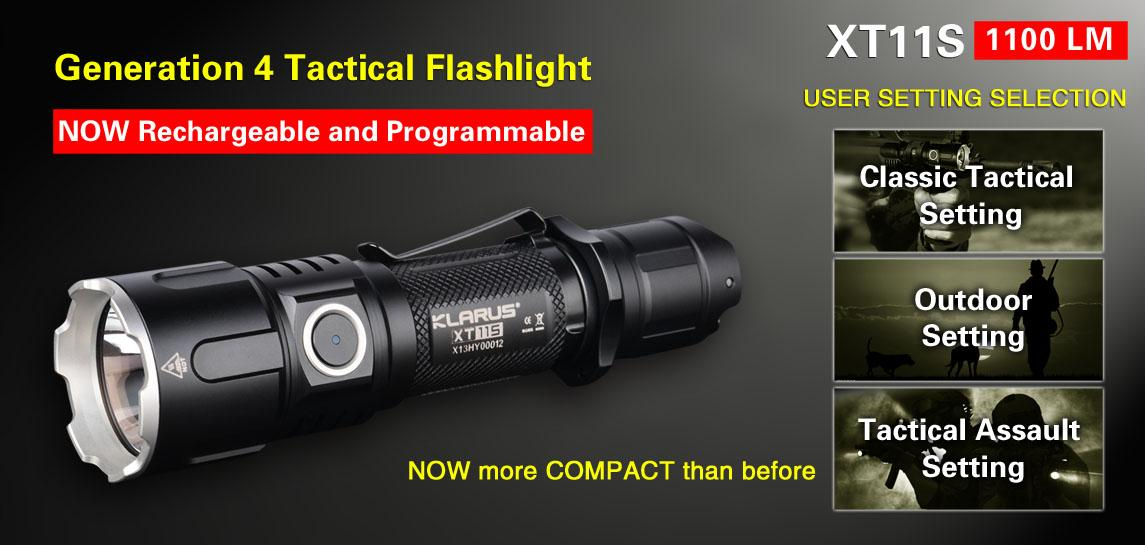 Klarus XT11S Utilizes Cree XP-L HI V3 LED Flashlight - 1100 Lumens