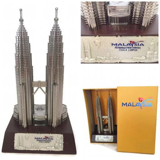 KLCC PETRONAS TWIN TOWER SOUVENIR(24CM),HOME DECORATION