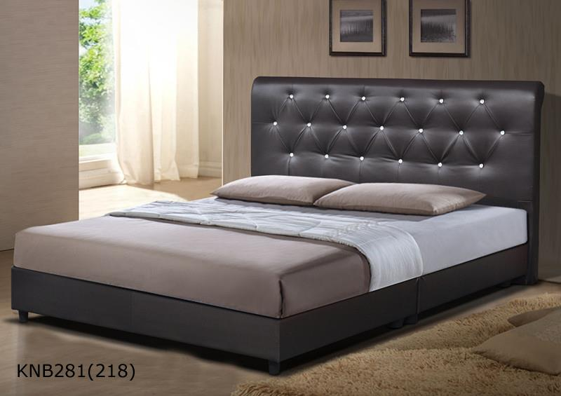 Knb281 upholstered divan queen bed frame kuala lumpur for Divan bed frame sale