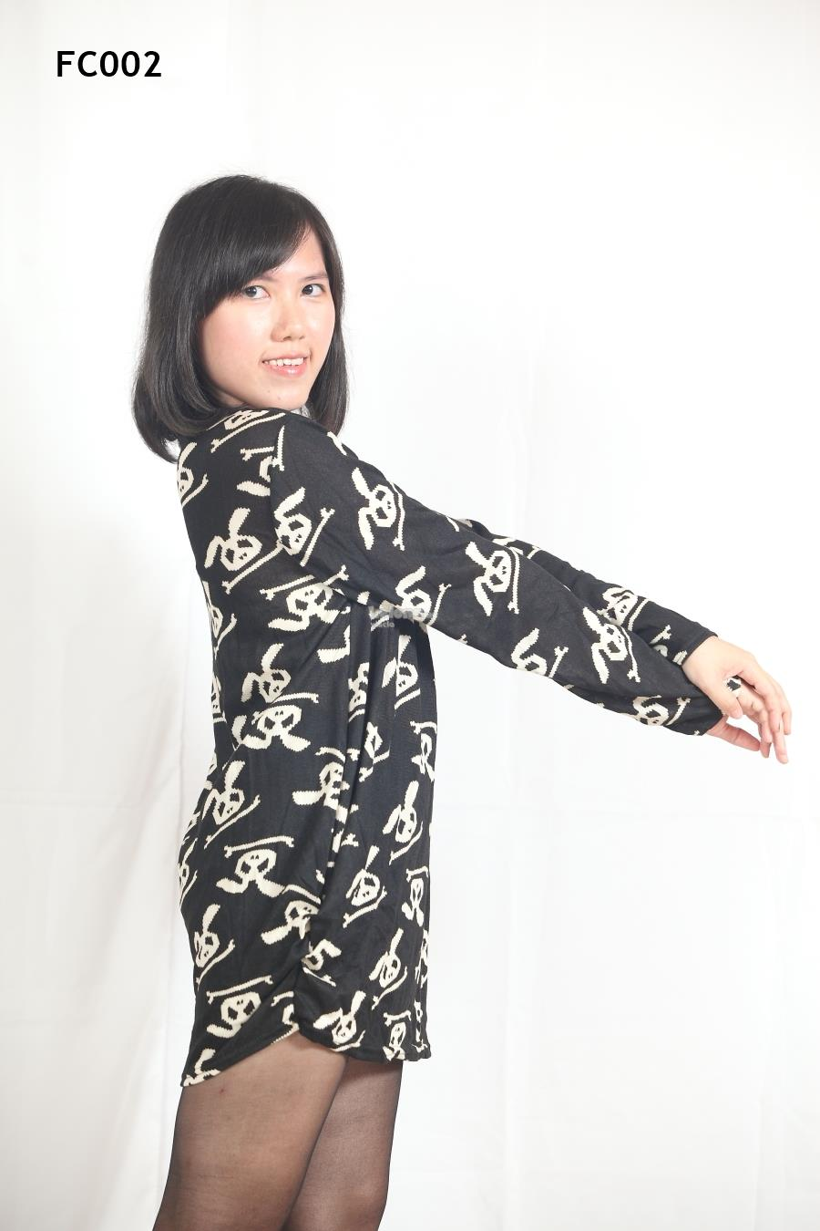 Knitted Unique Rabbit Printed Long Sleeves Top- S-3XL