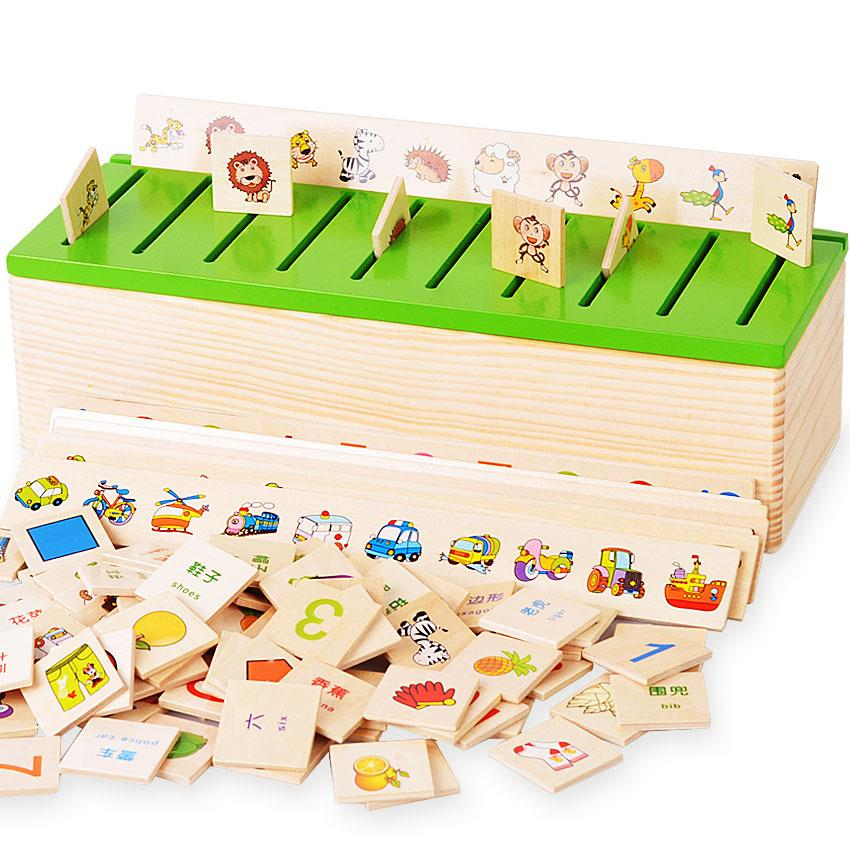 Knowledge Classification Box Shape Matching Children Puzzle Toy