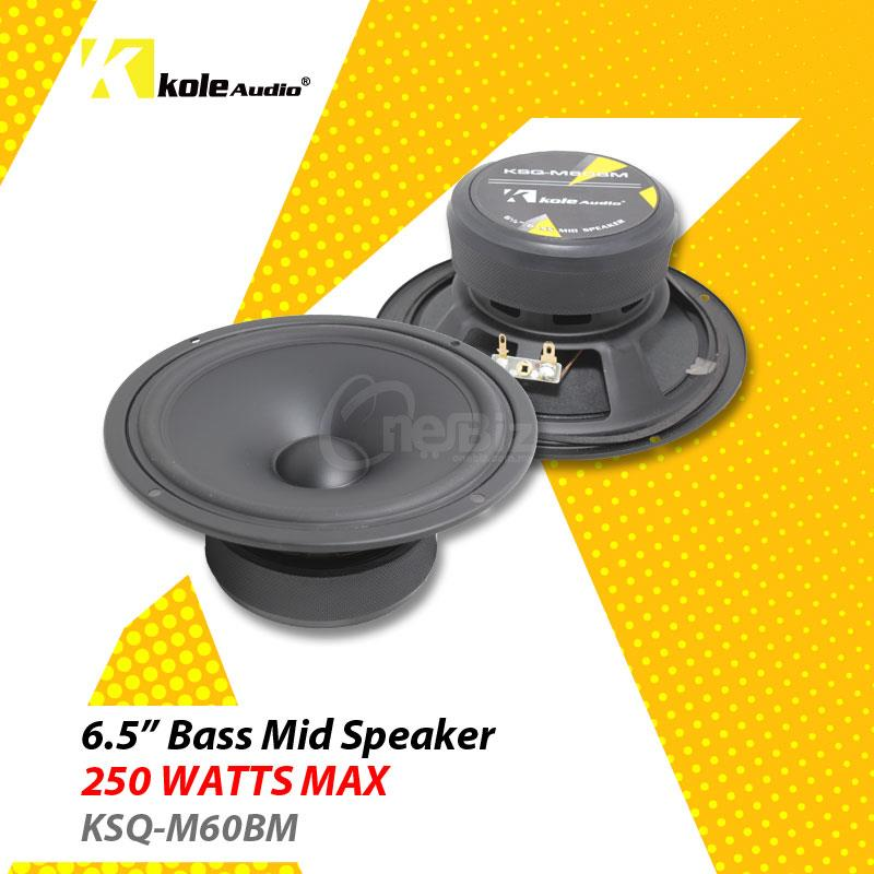 Kole Audio - 6.5' Bass Mid Speaker - 250W - KSQ-M60BM