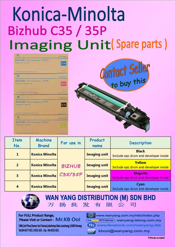 Konica Minolta Bizhub C35/35P Imaging Unit( Spare parts )