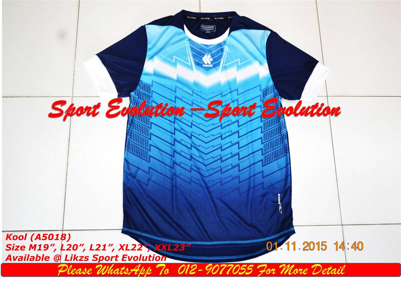 Kool Jersey 5086 (Team Order) Skyblue