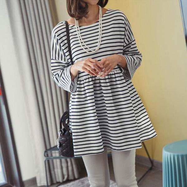 Korea Casual Strap Design Ladies Long Sleeve Dress