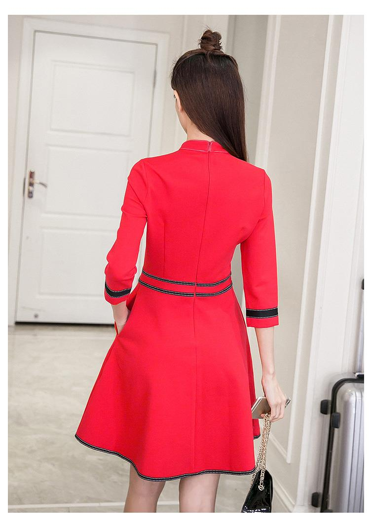 Korea Charming Dress Red