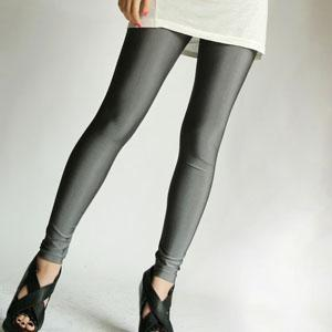 Korea Fashion~Elastic Fluorescence Pants (Dark Grey)