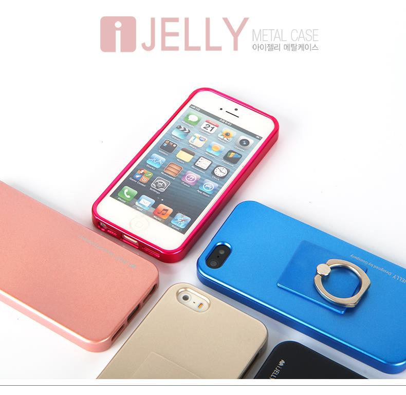 Korea Goospery I-Jelly Ring Soft Case for IPHONE 4S IPHONE 5S/SE