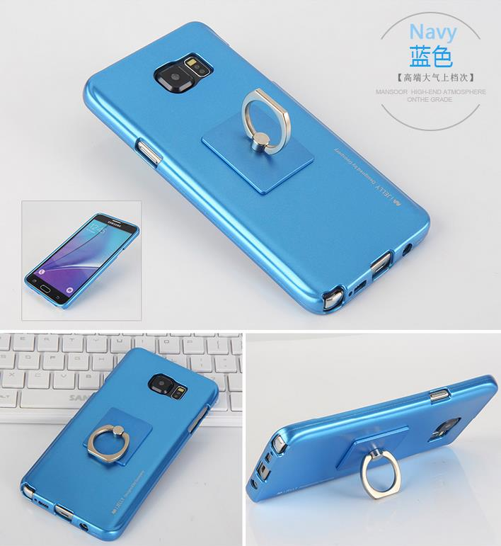 Korea Goospery I-Jelly Ring Soft Case for Samsung Note5/Note7/C5/C7