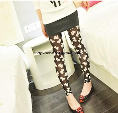 Korea Pants Panties Trouser Shorts Bowknot Mesh Leggings 00514