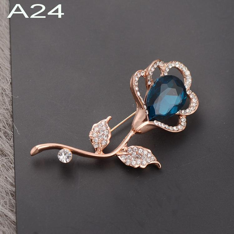 KOREA PREMIUM QUALITY FLOWER BEADED BROOCH PIN