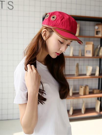 Korea Style Leather Double-side Couple Fashion Cap