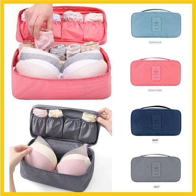 Korea Stylish Travel Bra Underwaer Bag Pouch and Baby Pampers Storage