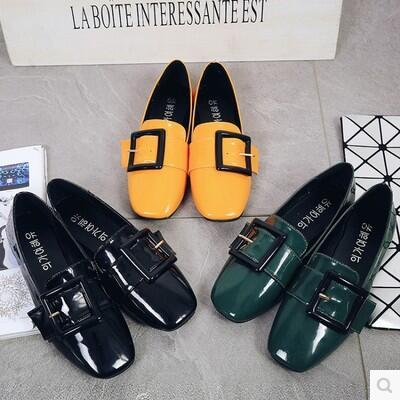 Korea version new arrival metal buckle casual Carrefour shoes