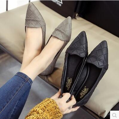 Korea version new arrival pointed simple plaid pattern sandal