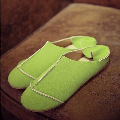 Korea version casual stitching simple lazybone sandal