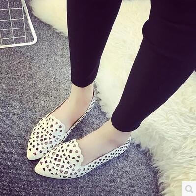 Korea version fashion hollow pointed casual sandal