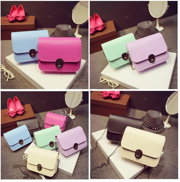Korean Design Candy color Handbag, Shoulder Bag, Sling Bags