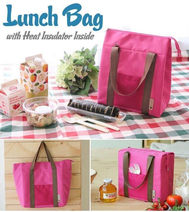 Korean Design Lunch Bag for Picnic and Take Away with Heat Insulator