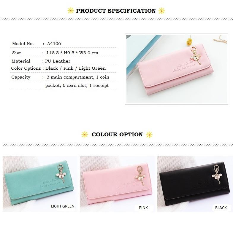 New Korean Design Style, Sweet Purse, Lady Wallet