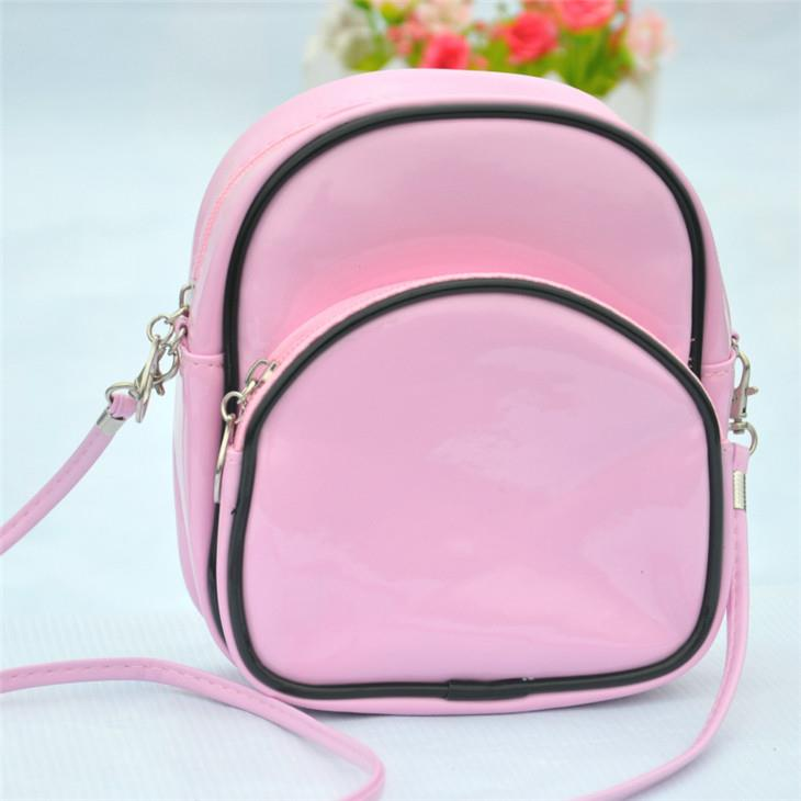 New Korean Fashion Bright Leather Shoulder Bag (Pink)