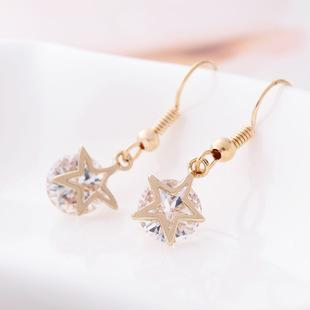 Korean Fashion Five-pointed Star Earrings