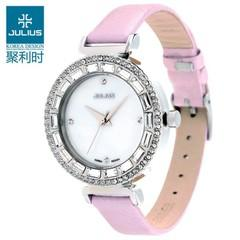 NEW KOREAN FASHION JULIUS LADIES CRYSTAL LEATHER WATCH FOR SALES