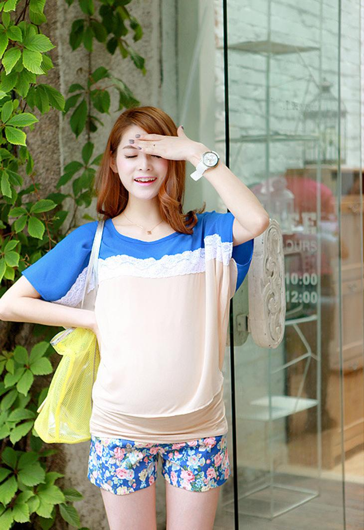 Korean Fashion Maternity Shorts