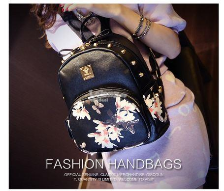 Korean Fashion Printed Butterfly Shoulder Backpack Bag