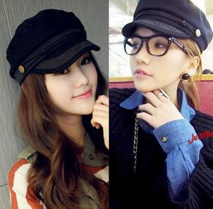 Korean Fashion~Retro Lace Navy Cap