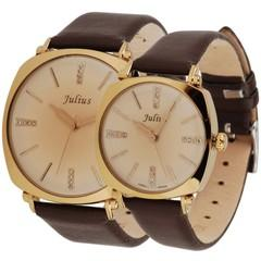NEW KOREAN FASHION RETRO QUARTZ BELT JULIUS COUPLE WATCH FOR SALES