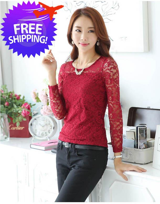 Korean Style Fashion Blouse Malaysia Leopard Trim Blouse