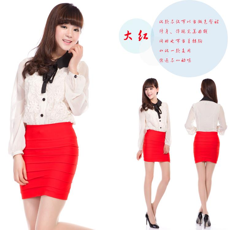 Korean~High Quality Candy Color Fashion Skirt