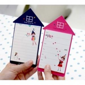 Korean~House Shape Memo Pad